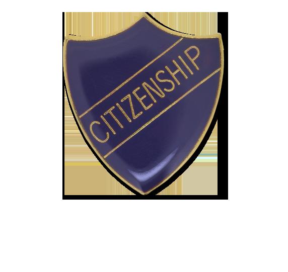 Citizenship Enamelled Shield Badge