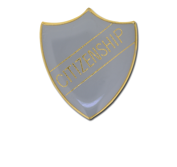 Citizenship Enamelled Shield Badge