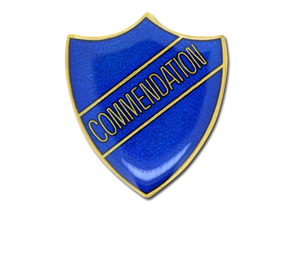 Commendation Enamelled Shield Badge