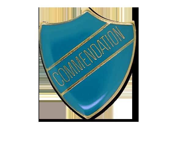 Commendation Enamelled Shield Badge