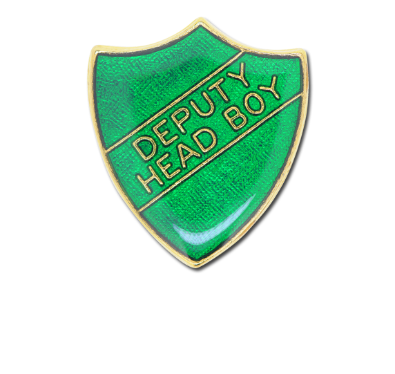 Deputy Head Boy Enamelled Shield Badge