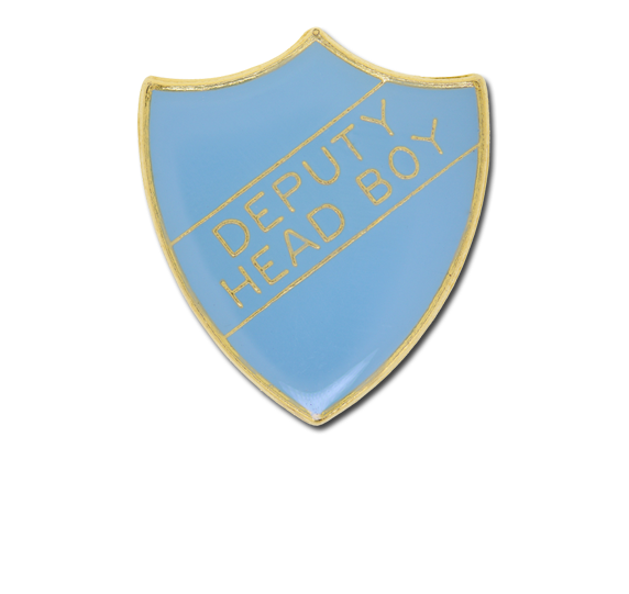 Deputy Head Boy Enamelled Shield Badge