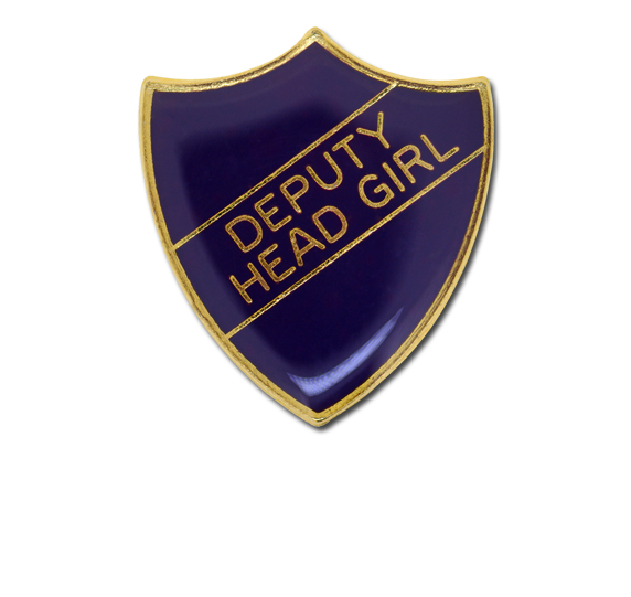 Deputy Head Girl Enamelled Shield Badge