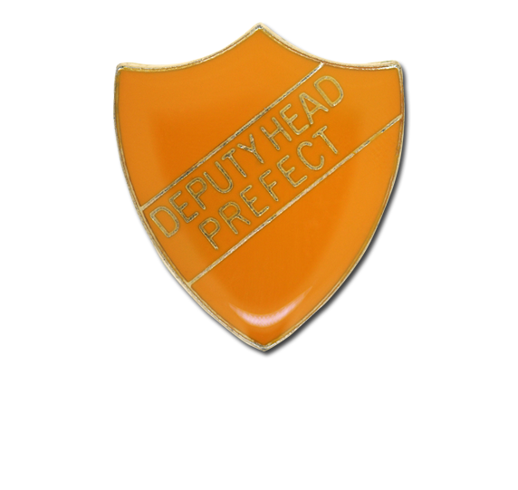 Deputy Head Prefect Enamelled Shield Badge