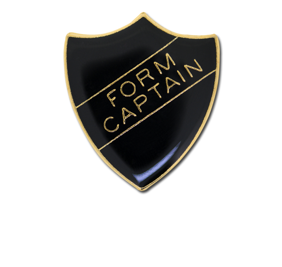 Form Captain Enamelled Shield Badge