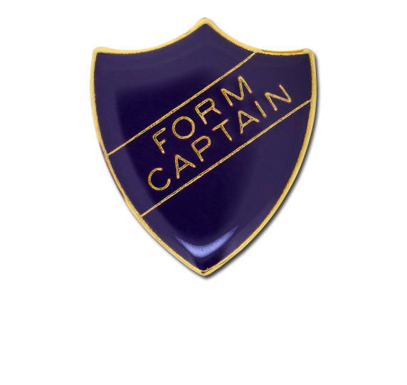 Form Captain Enamelled Shield Badge