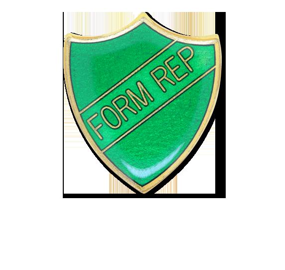Green Form Rep Enamelled Shield Badge | Badges Plus Ltd