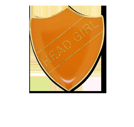 Head Girl Enamelled Shield Badge