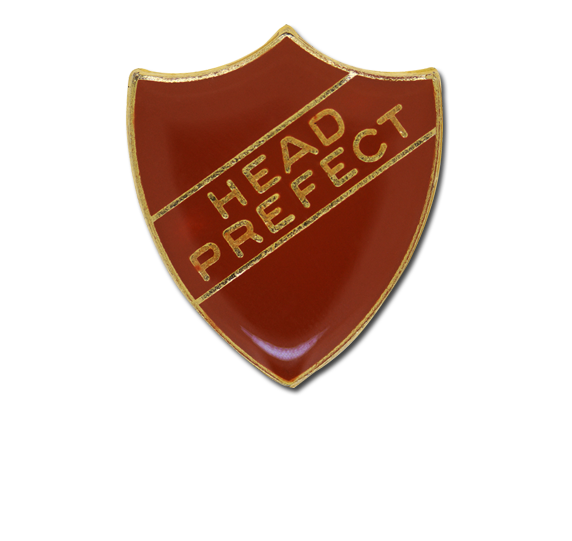 Head Prefect Enamelled Shield Badge