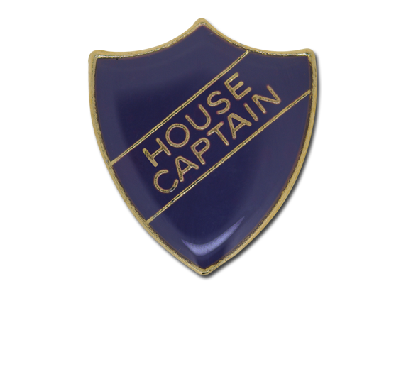 House Captain Enamelled Shield Badge