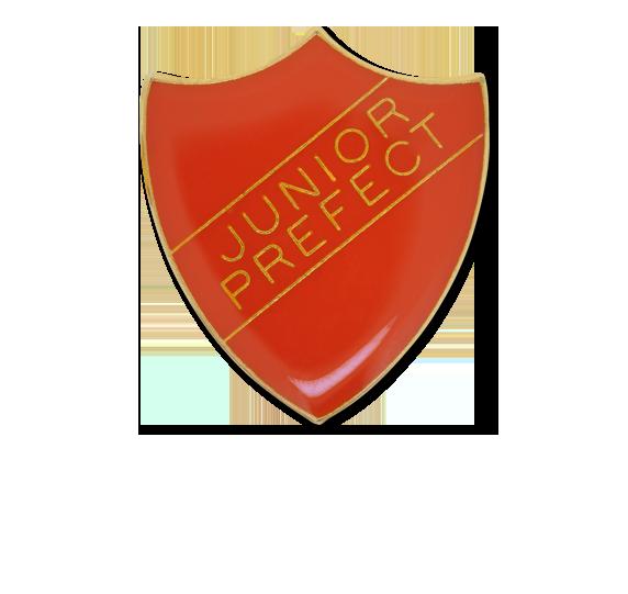 Junior Prefect Enamelled Shield Badge
