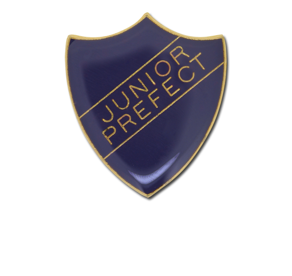 Junior Prefect Enamelled Shield Badge