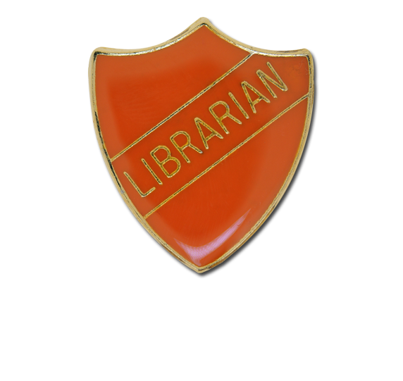 Librarian Enamelled Shield Badge