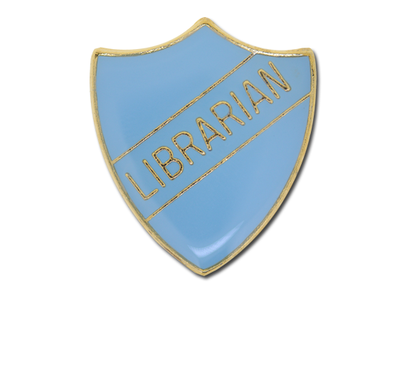 Librarian Enamelled Shield Badge