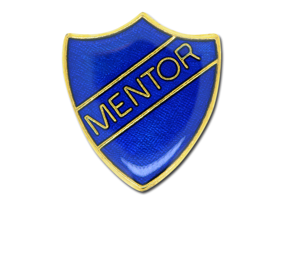 Mentor Enamelled Shield Badge