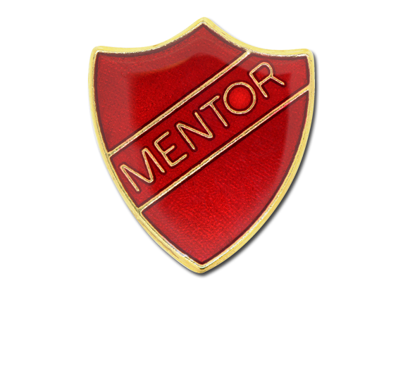 Mentor Enamelled Shield Badge