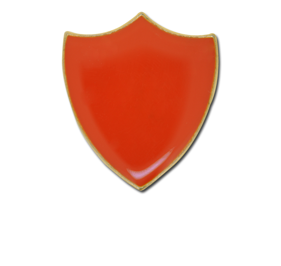 Plain Shield Enamelled Shield Badge