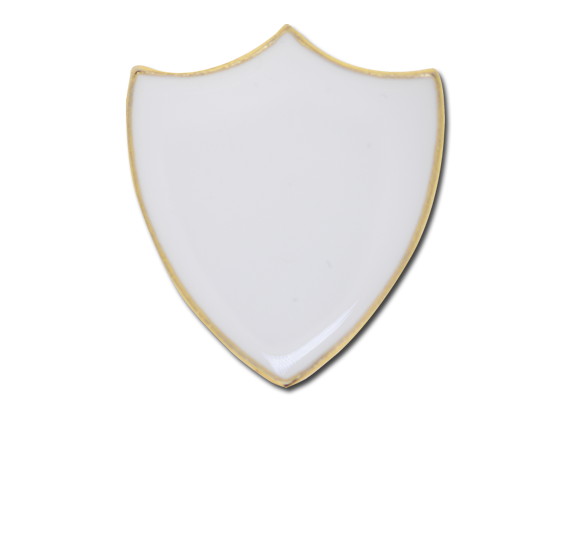 Plain Shield Enamelled Shield Badge