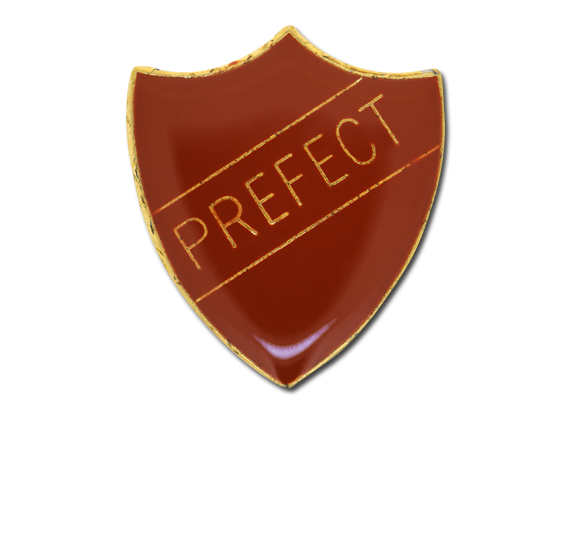 Prefect Enamelled Shield Badge