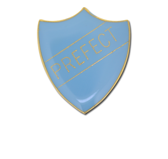 Prefect Enamelled Shield Badge