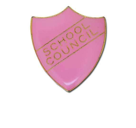School Council Enamelled Shield Badge