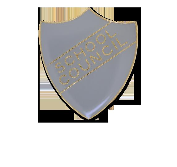 School Council Enamelled Shield Badge