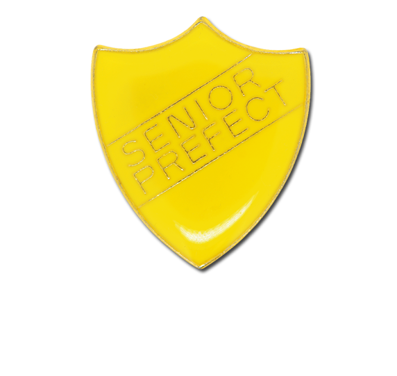 Senior Prefect Enamelled Shield Badge