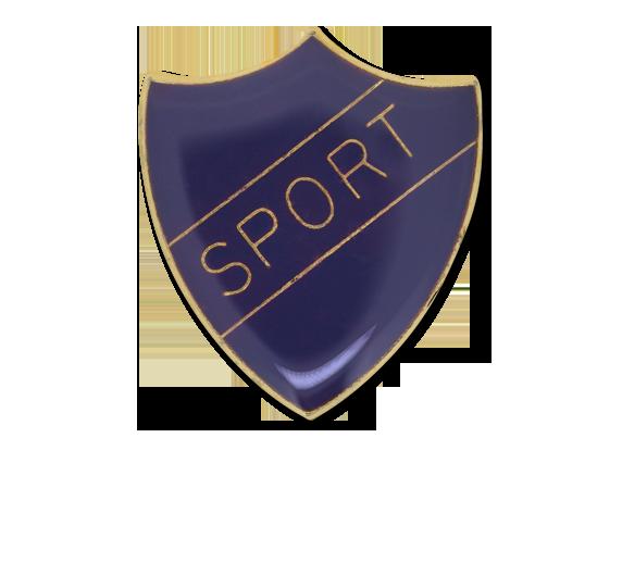 Sport Enamelled Shield Badge