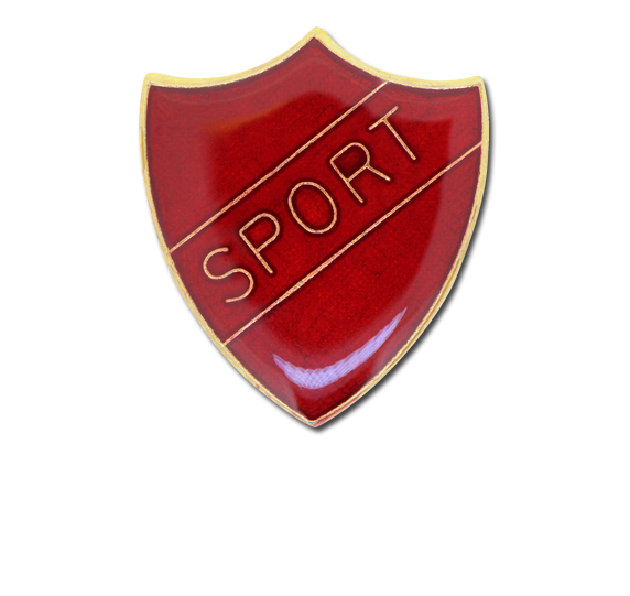 Sport Enamelled Shield Badge