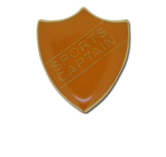 Sports Captain Enamelled Shield Badge