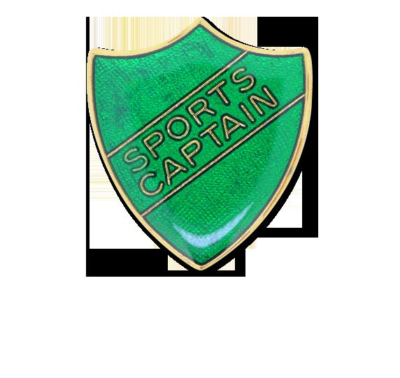 Sports Captain Enamelled Shield Badge