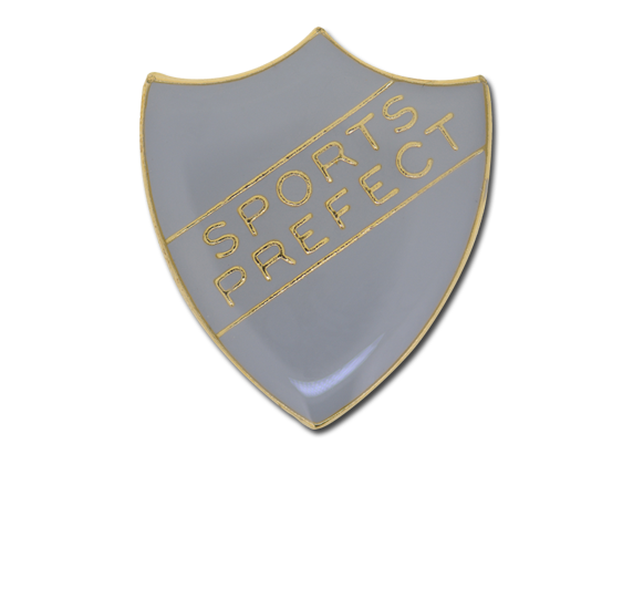 Sports Prefect Enamelled Shield Badge