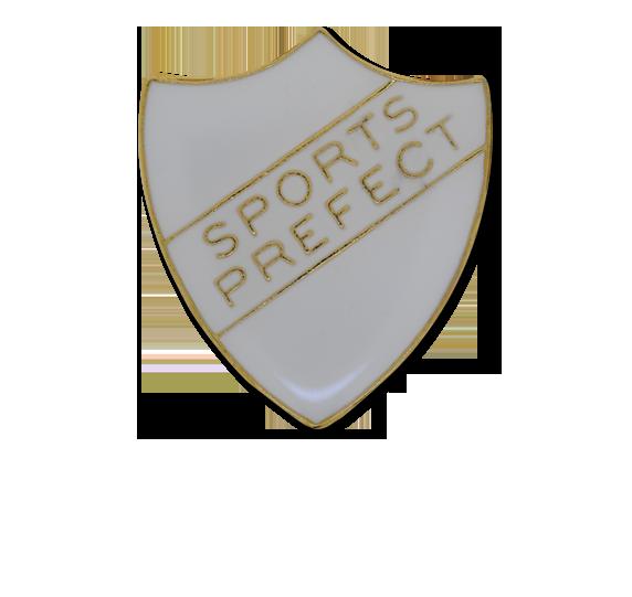 Sports Prefect Enamelled Shield Badge