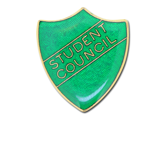 Student Council Enamelled Shield Badge