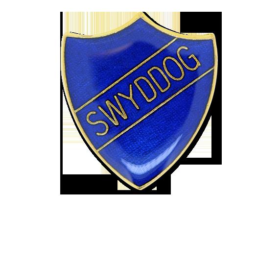 Swyddog Enamelled Shield Badge