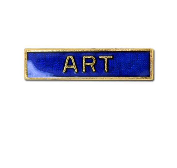Art Small Bar Badge