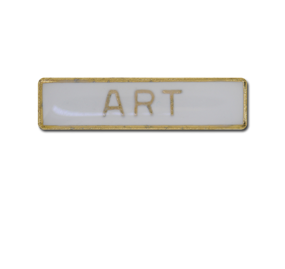Art Small Bar Badge