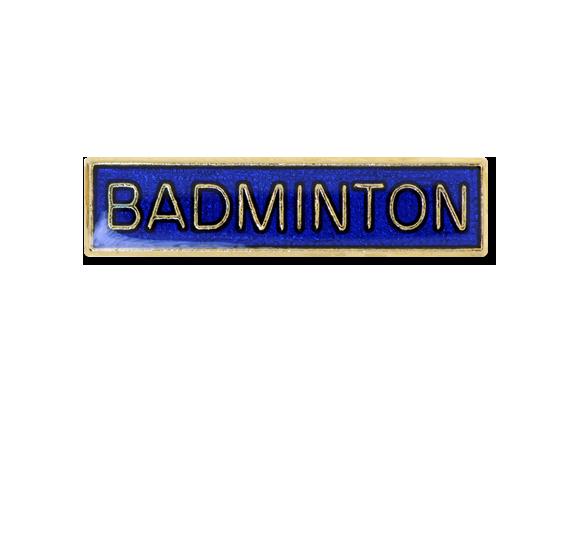 Badminton Small Bar Badge