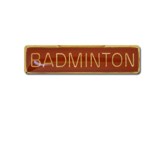 Badminton Small Bar Badge