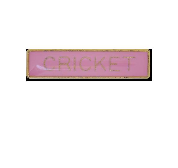 Cricket Small Bar Badge