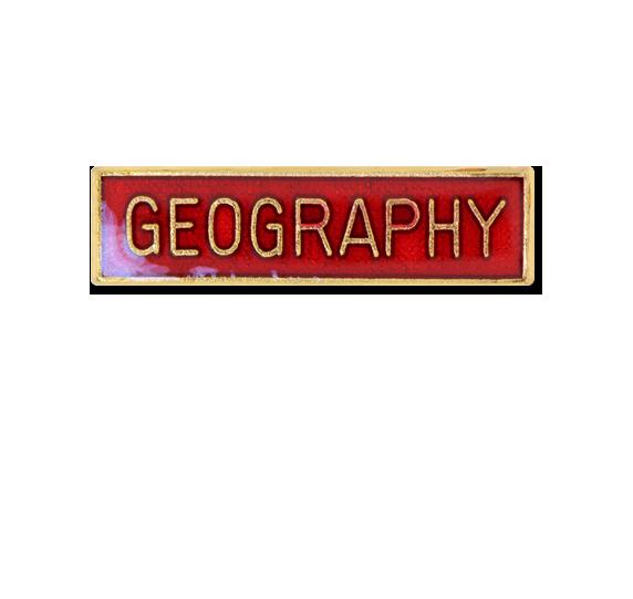 Geography Small Bar Badge