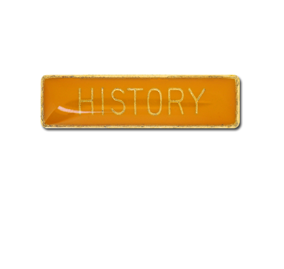 History Small Bar Badge