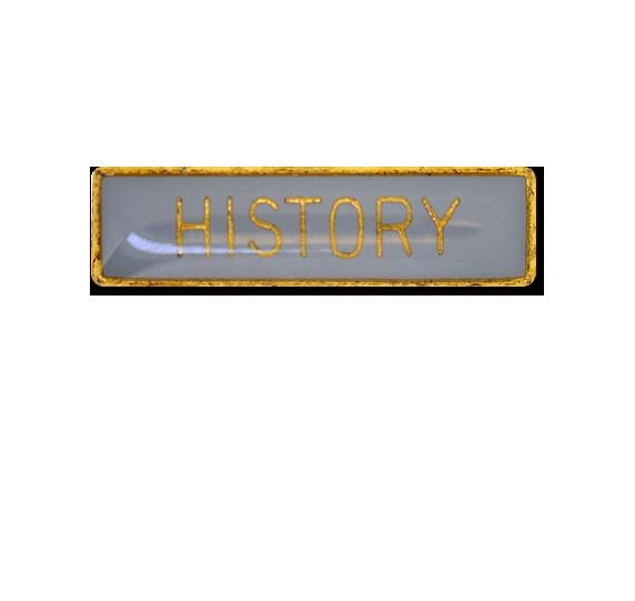 History Small Bar Badge
