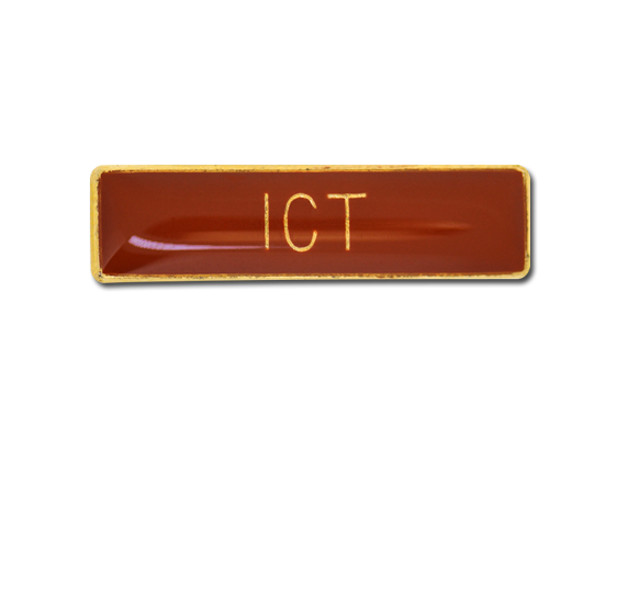 ICT Small Bar Badge