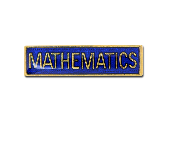 Mathematics Small Bar Badge