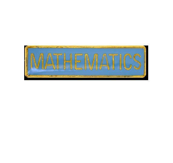 Mathematics Small Bar Badge