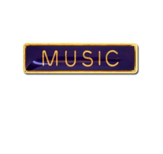 Music Small Bar Badge