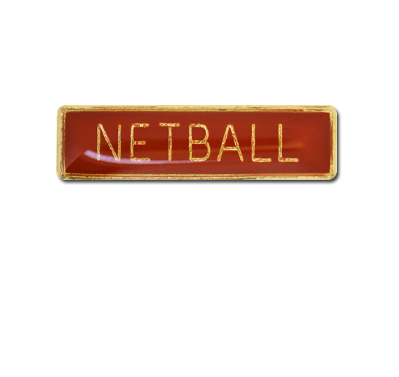 Netball Small Bar Badge