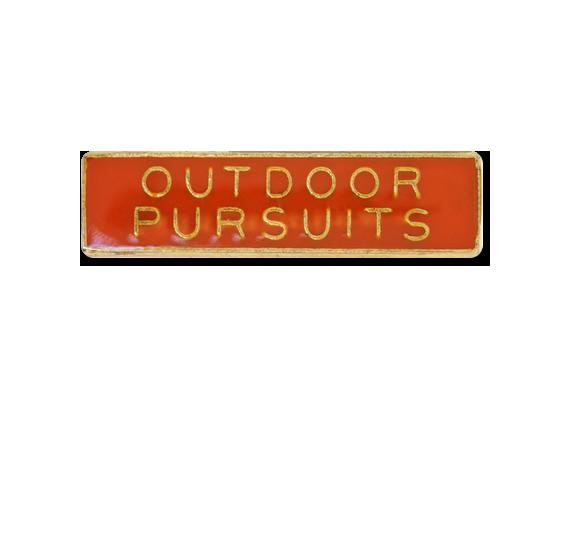 Outdoor Pursuits Small Bar Badge