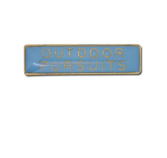 Outdoor Pursuits Small Bar Badge